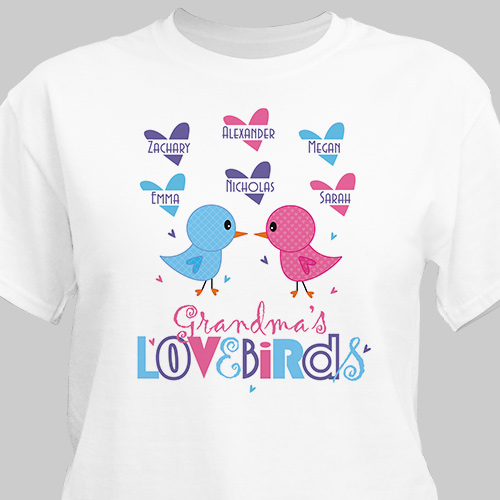 Love Birds Personalized T-Shirt