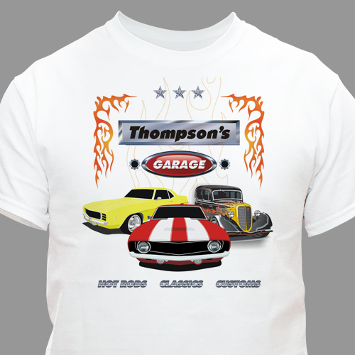 Personalized Garage T-shirt | Personalized T-shirts