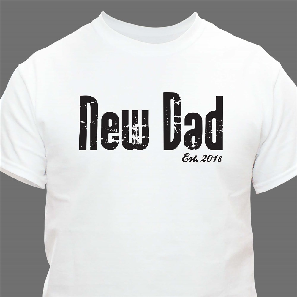 Personalized Fathers Day T-Shirt | Gifts for New Dads