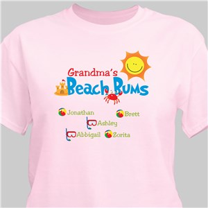 Beach Bums Personalized T-Shirt | Personalized Grandma Shirts