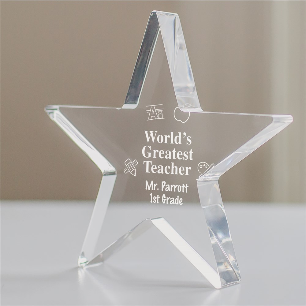 Engraved Teacher Star Keepsake | Personalized Teacher Gifts