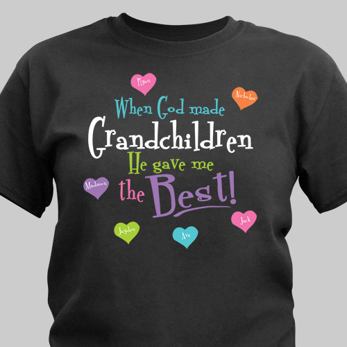 Personalized God Gave Me the Best T-Shirt | Personalized Grandma Shirts
