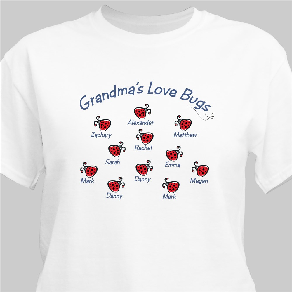 Personalized Love Bugs T-Shirt | Personalized Grandma Shirts
