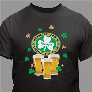 Personalized Shirt | Irish Drinking Team Shirts