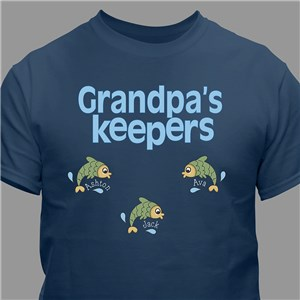 Personalized Keepers T-shirt | Father's Day Presents For grandpa