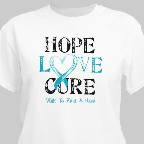 Hope Love Cure Awareness Personalized T-shirt 33344x