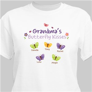 Butterfly Kisses Personalized T-shirt | Personalized Grandma Shirts