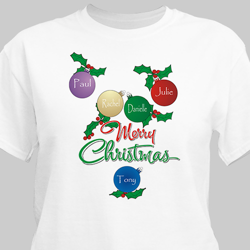 Merry Christmas T-Shirt | Personalized Christmas Shirt