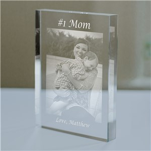 Personalized Number One Mom Photo Keepsake | Mother's Day Gift From Son