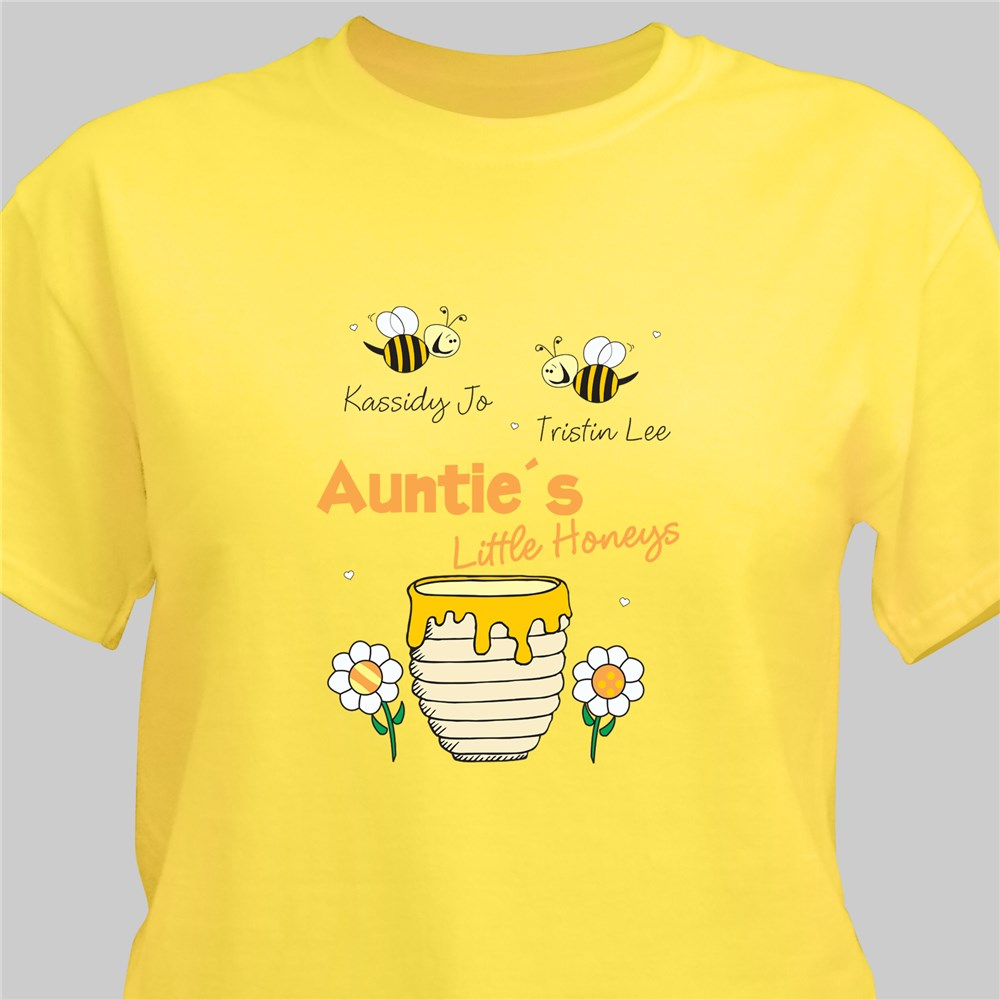 Personalized Little Honeys Yellow T-Shirt | Mom Shirts