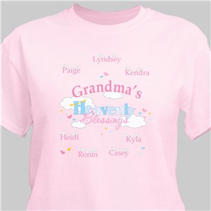 Heavenly Blessings Personalized Pink T-Shirt | Mom Shirts