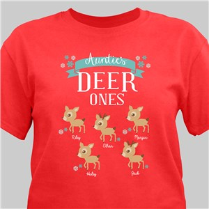 Deer Ones Personalized T-Shirt | Personalized Christmas T-Shirt