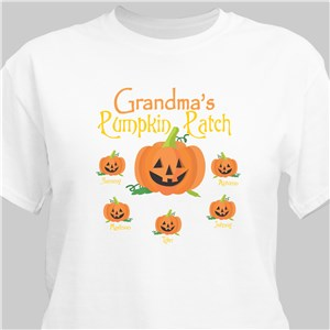 Pumpkin Patch Personalized Halloween Adult T-Shirt | Personalized Halloween Shirts