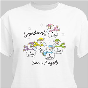 Snow Angels T-Shirt | Personalized T-shirts
