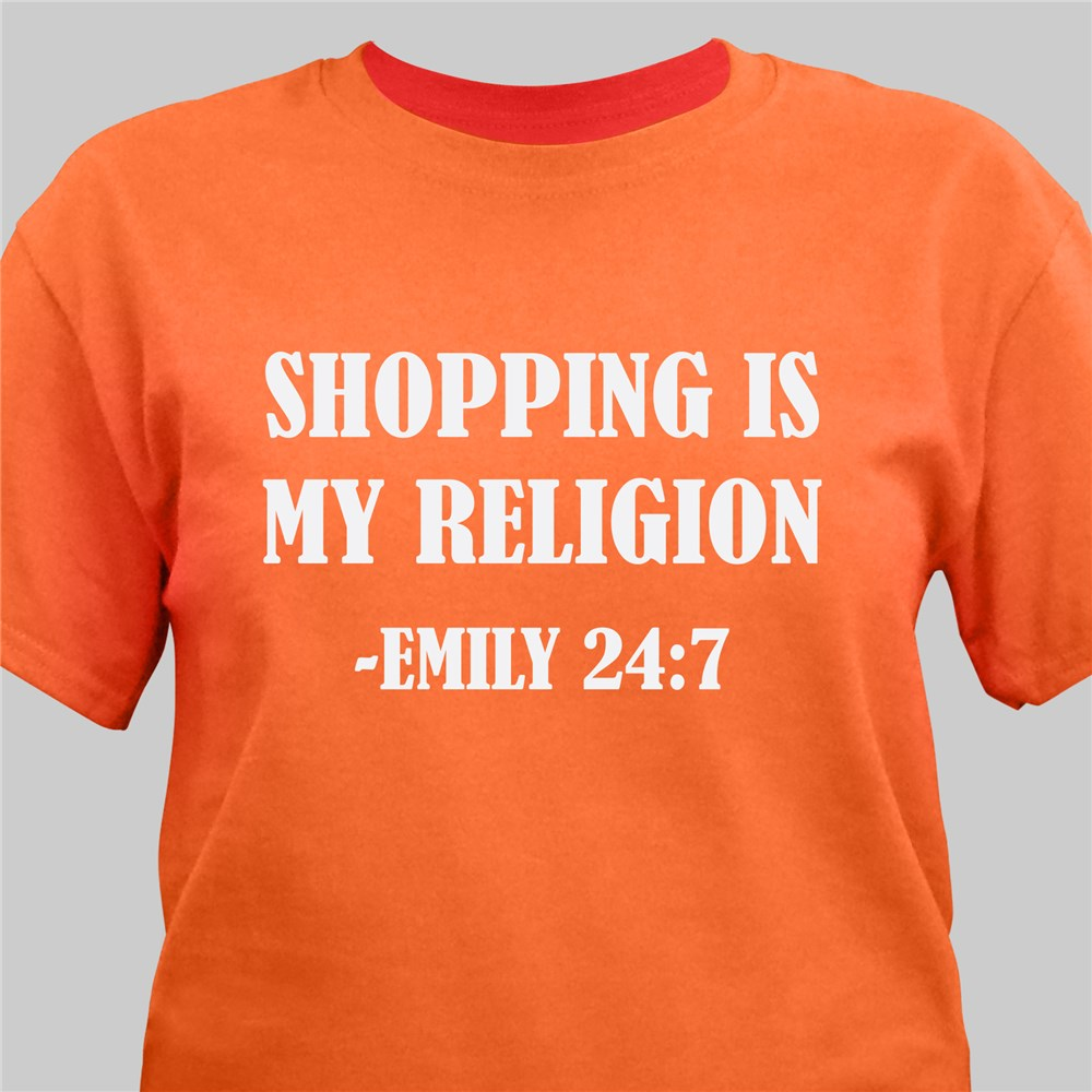 Personalized My Religion T-Shirt | Personalized T-shirts