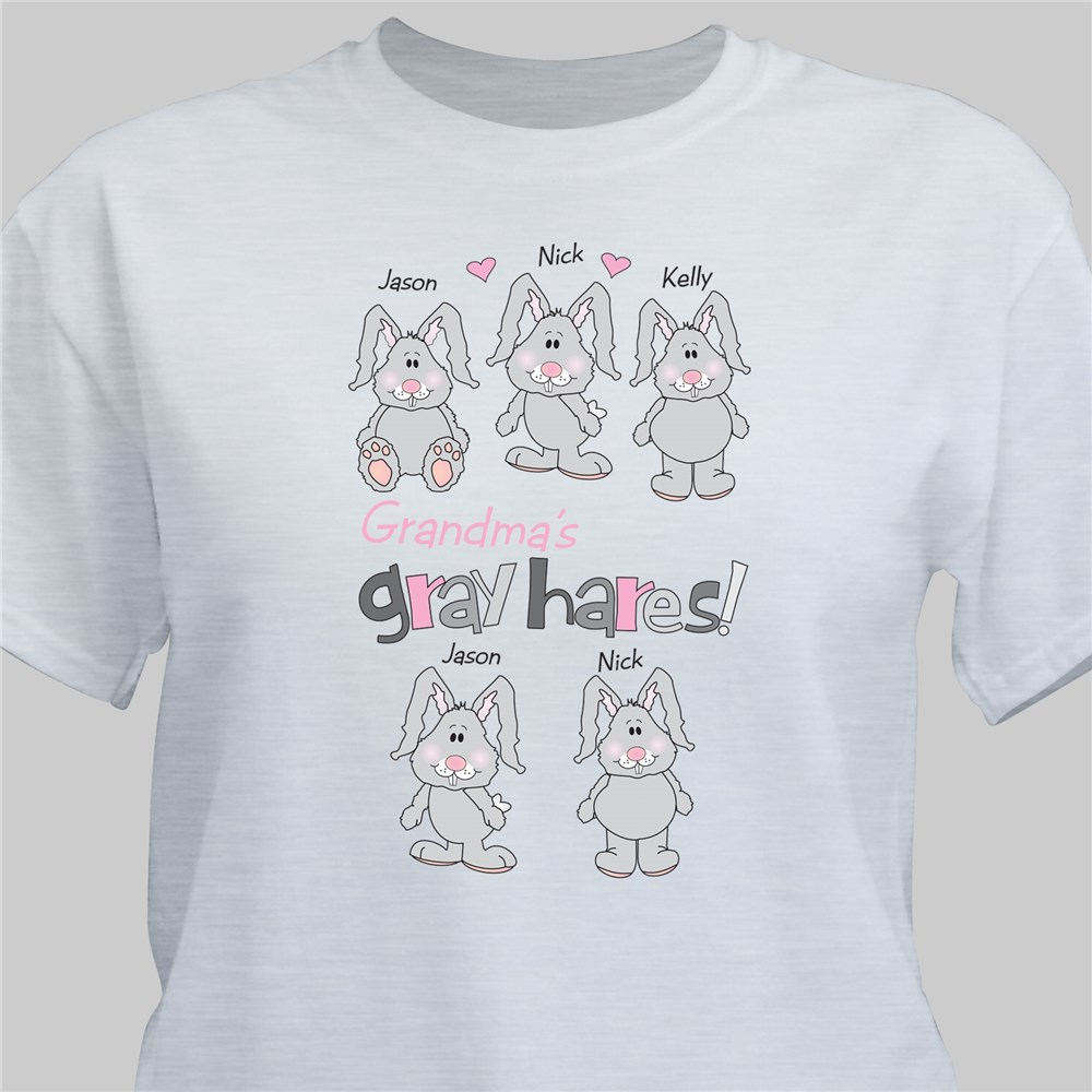 Gray Hares Personalized T-Shirt | Personalized T-shirts