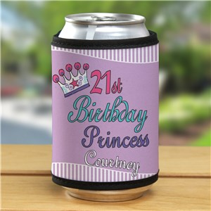 Personalized 21st Birthday Princess Can Wrap  339709