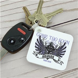 Personalized Gone Too Soon Memorial Key Chain | Memorial Gifts