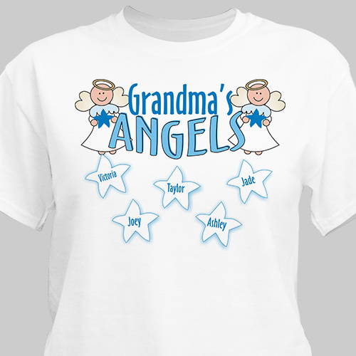 Angels Personalized T-Shirt | Personalized Grandma Shirts