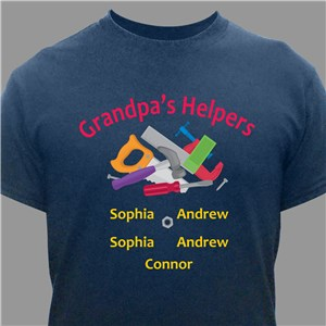 Personalized Helpers T-shirt | Personalized Fathers Day Shirts