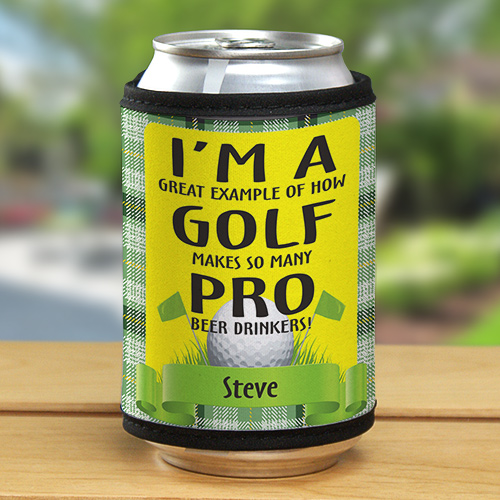 Personalized Pro Beer Drinkers Golf Can Wrap 342529
