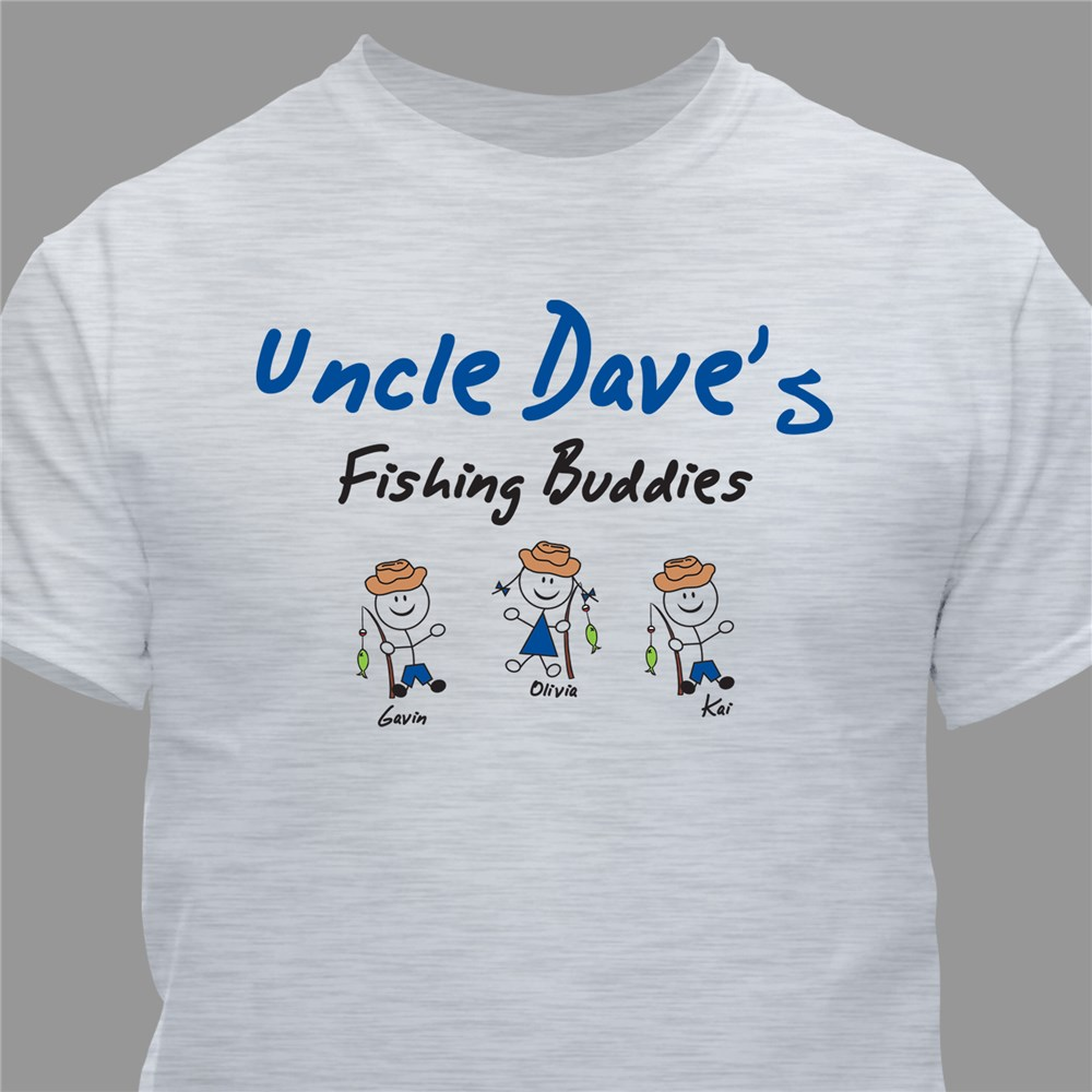 Personalized Fishing Buddies T-Shirt | Father's Day Presents For Grandpa