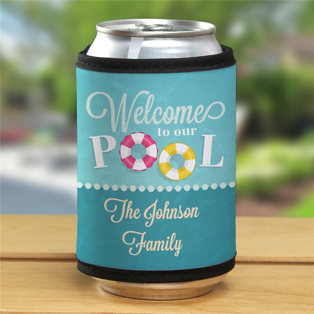 Personalized Welcome to Our Pool Can Wrap 343379