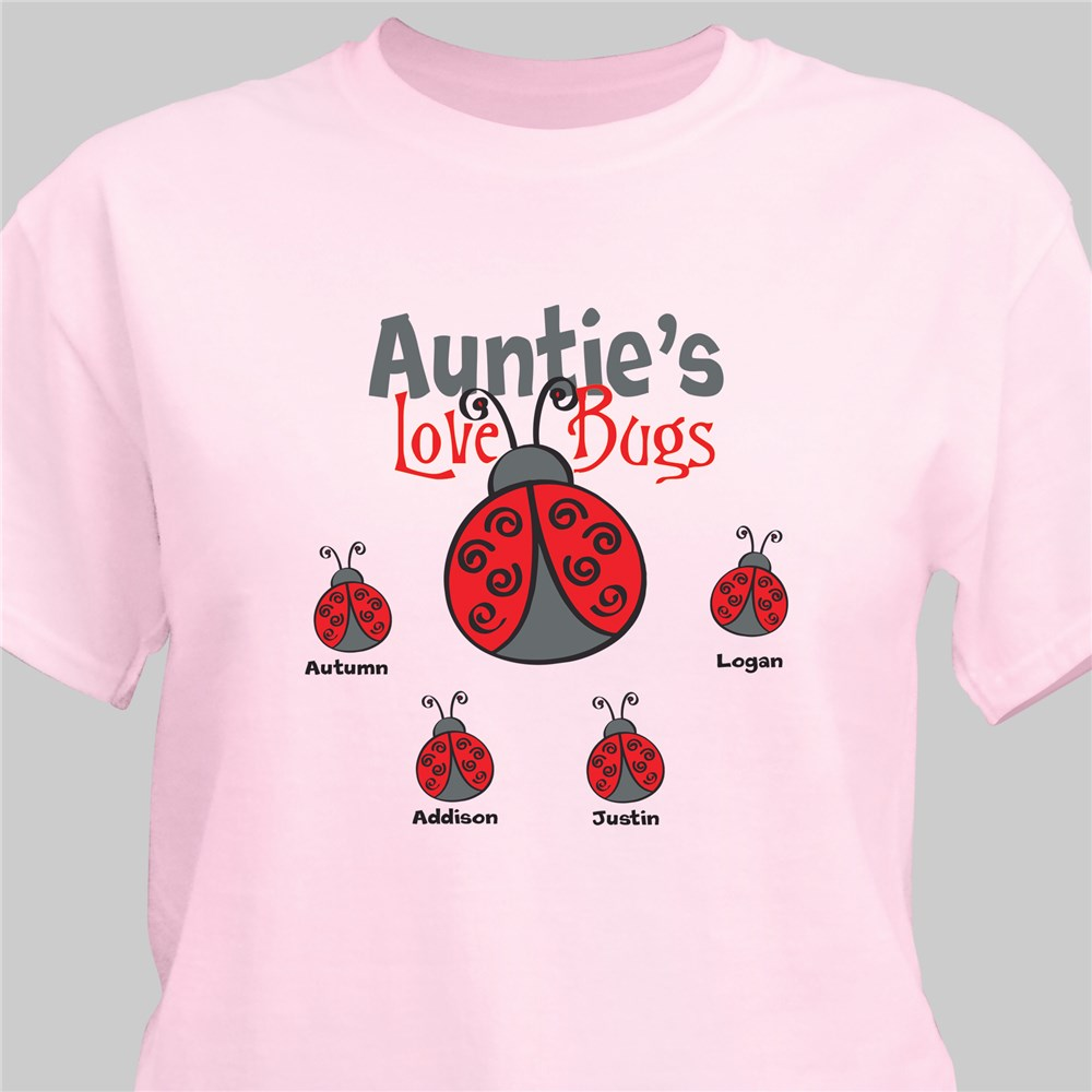 Personalized Love Bugs T-Shirt | Personalized Grandma TShirts