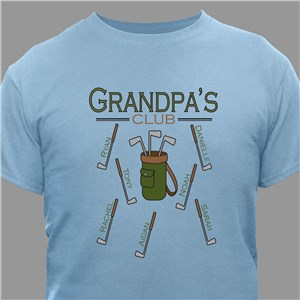 Personalized Golf Club T-Shirt | Grandpa Gift