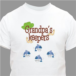 Keepers Personalized Fishing T-Shirt | Personalized Fishing Gifts
