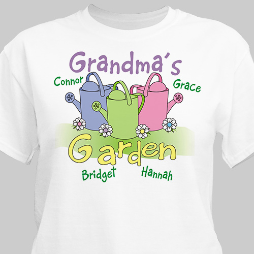 Garden T-Shirt | Personalized Grandma Shirts