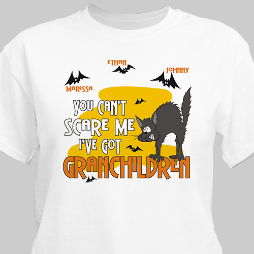 Can't Scare Me Personalized Halloween T-Shirt | Personalized Halloween Shirts