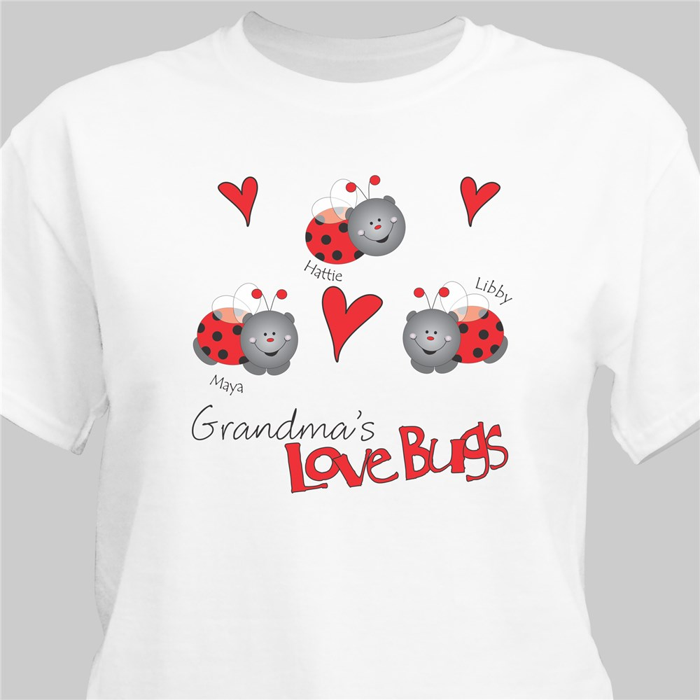 Love Lady Bugs T-Shirt | Personalized T-shirts