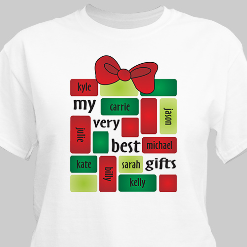 My Very Best Gifts T-Shirt | Personalized Christmas T-Shirt