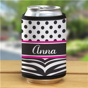 Personalized Zebra Print Can Wrap 359439