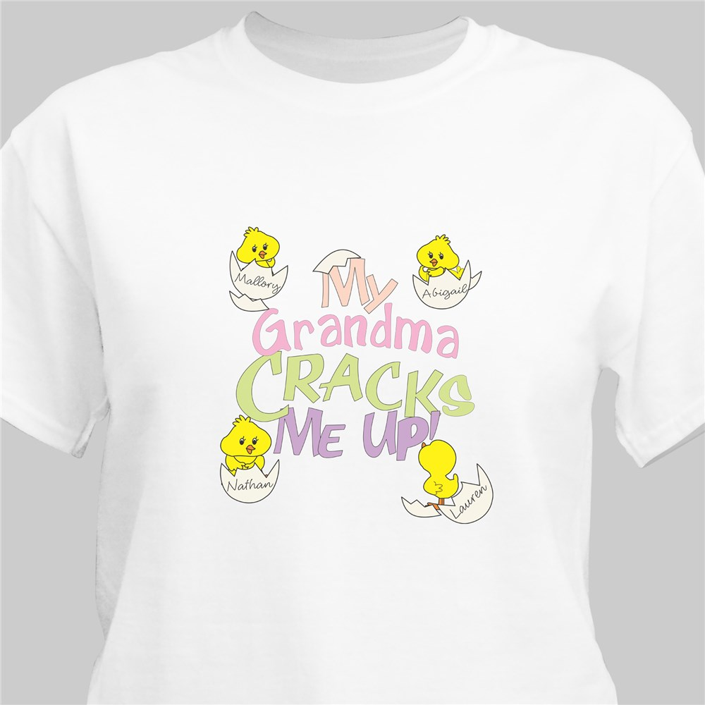 Crack Me Up Personalized T-Shirt | Personalized Grandma Shirts
