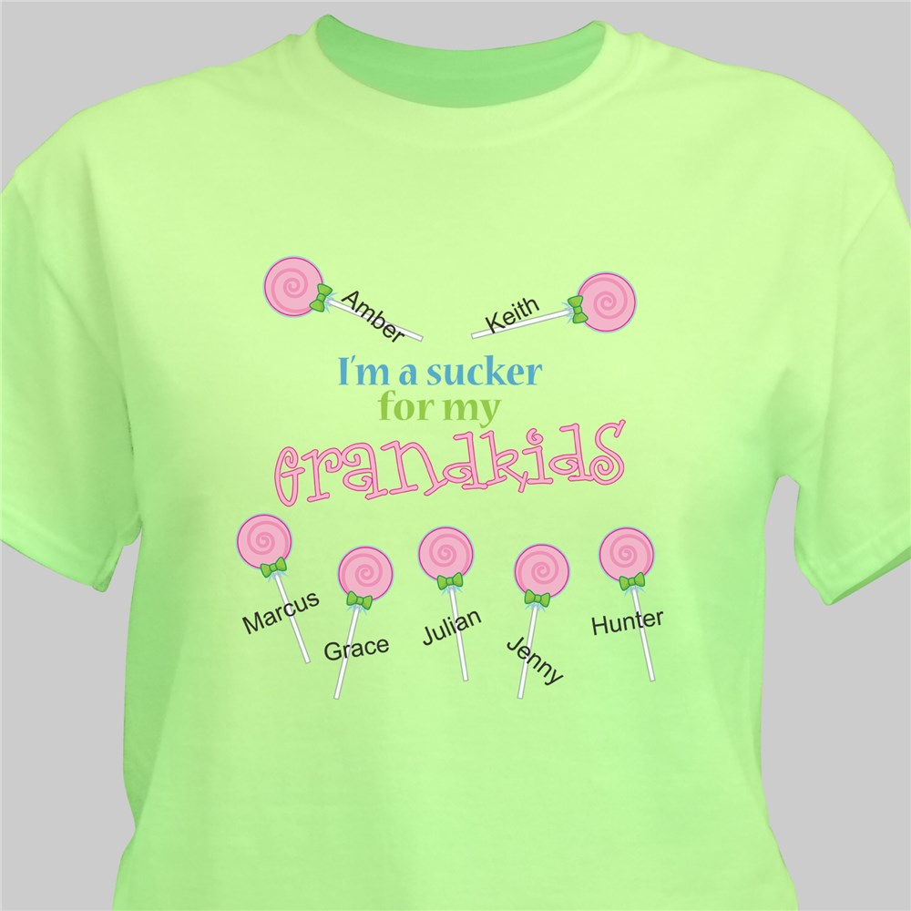 Personalized Sucker for My Kids T-Shirt | Personalized Grandma T Shirts