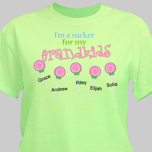 Personalized Sucker For My Kids T Shirt Giftsforyounow