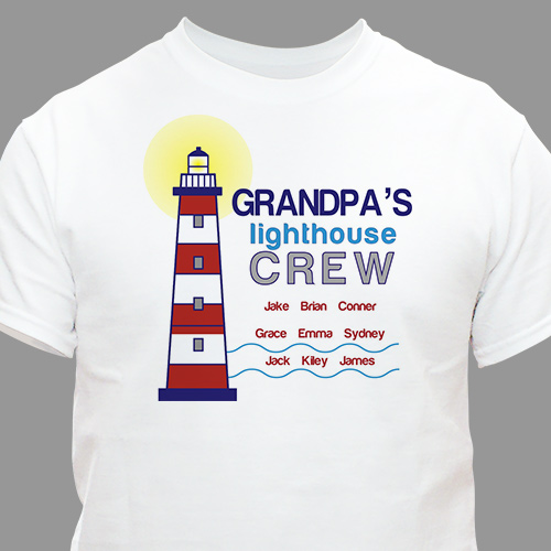 Personaized Lighthouse Crew T-Shirt 36323X