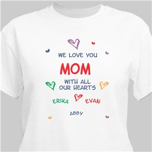 All Our Hearts Personalized T-Shirt | Mom Shirts
