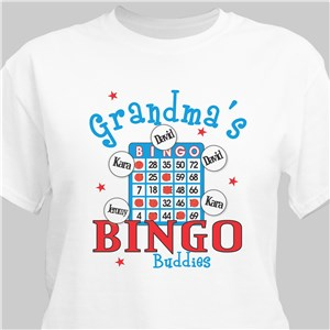 Bingo Personalized T-Shirt | Personalized Grandma Shirts
