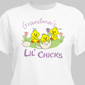 Lil' Chicks Personalized Easter T-Shirt | Easter Shirts For Adults