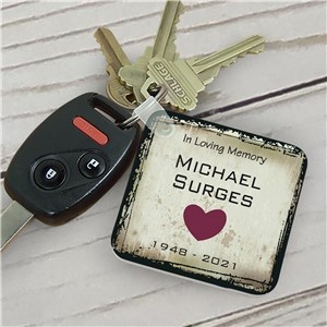 Personalized In Loving Memory Memorial Key Chain | Remembrance Gifts