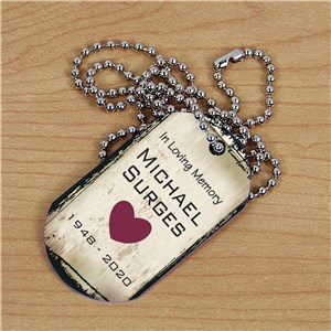 Personalized Memorial Dog Tag | Memorial Gift Ideas