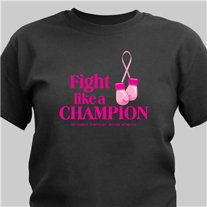 Fight Like a Champion Breast Cancer Awareness T-Shirt | Personalized T-shirts