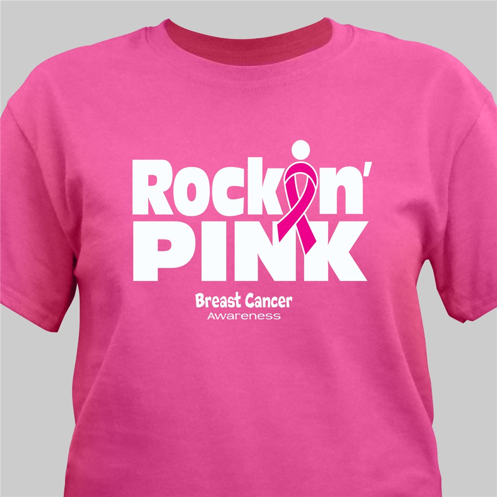Rockin Pink Breast Cancer Awareness T-Shirt | Personalized T-shirts