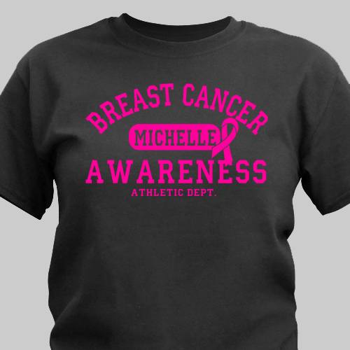 Personalized Breast Cancer Awareness Athletic Dept. T-Shirt | Personalized T-shirts
