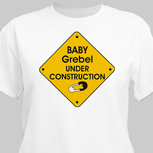 Under Construction Personalized T-shirt