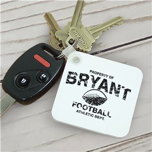 Personalized Property Of Sports Key Chain