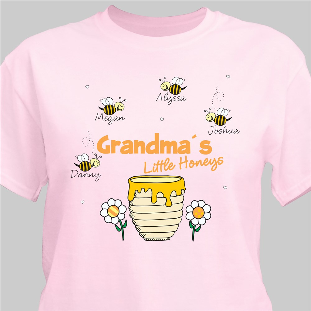 Little Honeys Personalized T-Shirt | Personalized Grandma T Shirts